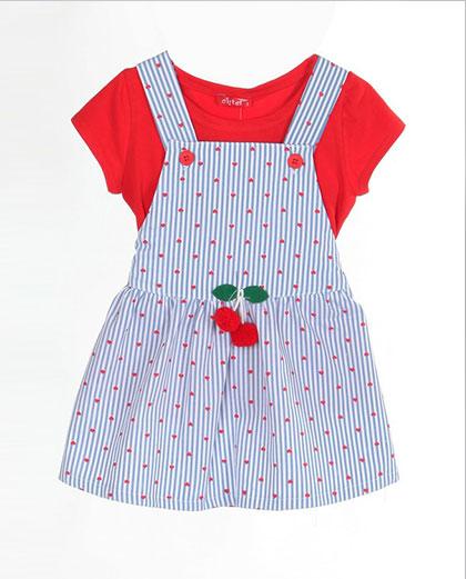 37bb6b42eb1 Σετάκι Φόρεμα και Μπλουζάκι Κεράσι και Καρδούλες